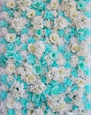 Artificial Flower Wall Panels Rose Hydrangea Wedding Venue Background-BLUE