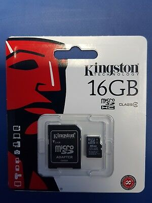 New Kingston Micro SD 16GB SDHC Memory Card Microsd TF Mobile Phone Class 4