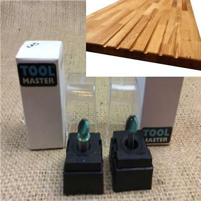 """Clearance Lot Cove Box Router Cutter Bit 1/4"""" Or 1/2"""" Kitchen Worktop Drainer"""