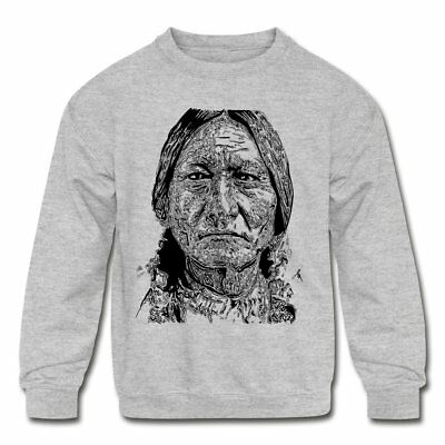 Native American Sitting Bull Portrait Kid's Crewneck Sweatshirt by Spreadshirt™
