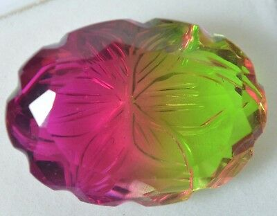 27.10 Ct Pink & Green Ametrine Loose Gemstone GGL Certified VVS Best Quality !