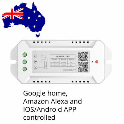 Smart Home WiFi switch module Alexa, Google home and IOS/Android APP 2500W
