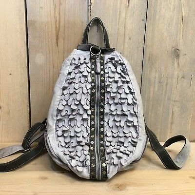 927f380a45800 LEDER RUCKSACK DAMEN Cityrucksack Backpack BILLY THE KID grau - EUR ...
