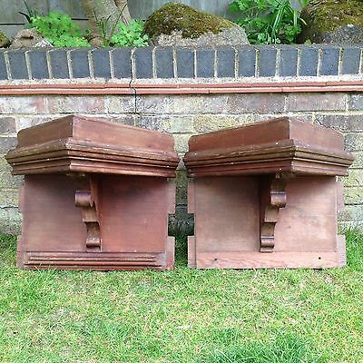 Victorian Pitch Pine Corner Brackets Large Old Architectural X 2 Reclaimed