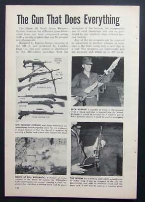 Stoner 63 Modular Weapon System *New Weapons for Vietnam* 1965 pictorial