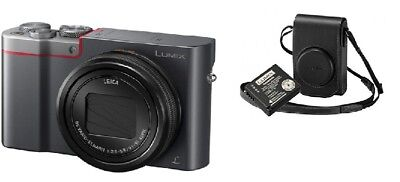 Panasonic LUMIX DMC-TZ100 - With Official Leather Case and Spare Battery