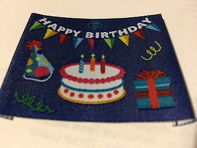 Girl Guides / Scouts Happy Birthday blue