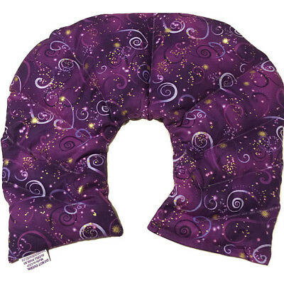 10 Chamber Herbal Pack Shoulder,Neck, Hot Cold Pack, Heat Wrap, LARGE,Sky Purple