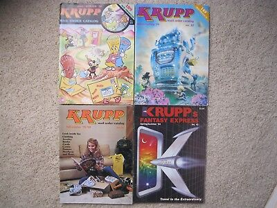 4 issues) KRUPP's Mail Order Catalog- F/W '78 / W/S '79 / F/W '79 &'80 / S/S '84