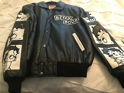 Betty Boop American Toons By Excelled Leather Jacket, Size Large