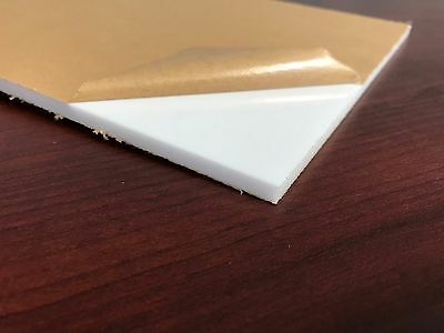 "White Plexiglass Cell Cast Acrylic Sheet 1/4"" Thick 4"" x 8"""