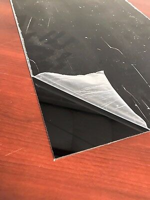 "Black Plexglass Cell Cast Acrylic Sheet 1/4"" Thick 6"" x 12"""
