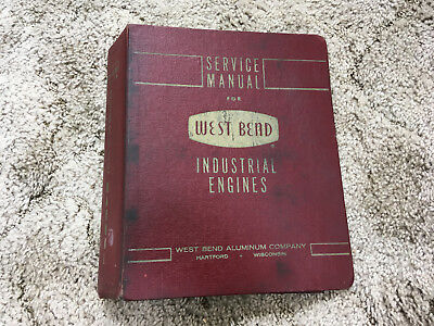 VINTAGE GO KART Used West Bend Service Manual binder. Chrysler US Motor 580 820