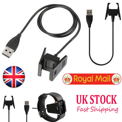 Black USB Cable Charger Charging for Fitbit CHARGE 2 Fitness  Tracker Wristband