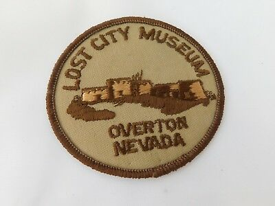 Vintage Lost City Museum Patch , Overton, Nevada