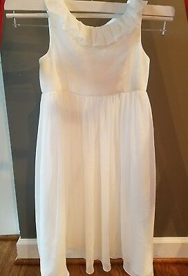 David's Bridal flower girl dress soft white size 6, worn once