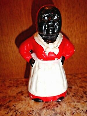 Vintage Aunt Jemima Type Cast Iron Bank/Figurine/ Doorstop Black Americana Mammy