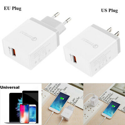 Quick Charge QC 3.0 18W 1 Port USB Wall Charger Fast Charging Adapter for Phone