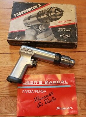 """SNAP-ON PDR5A 1/2"""" REVERSIBLE HEAVY DUTY PNEUMATIC AIR DRILL Works w/ Box"""