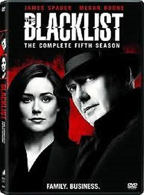 The Blacklist:Complete Fifth Season 5 New (DVD 5 Disc) fast free US shipping
