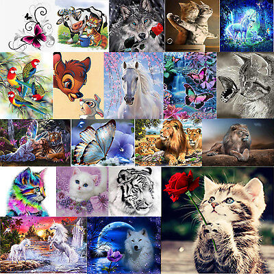 DIY 5D Diamond Painting Animal Embroidery Cross Crafts Stitch Kit Home Art Decor