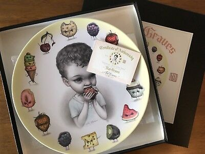 """Mab Graves """"Just One Bite"""" Ransom Plate BNIB With Authenticity Certificate"""