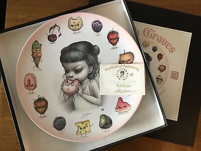 "Mab Graves ""Just One Bite"" Epicure Plate BNIB With Authenticity Certificate"