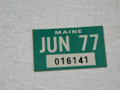 1977 Maine passenger car license plate sticker