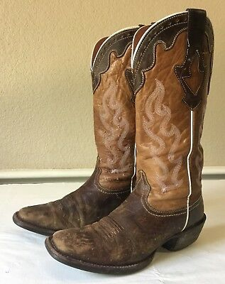 54e7636fb01 Ariat Crossfire Caliente Cowboy Boots Square Toe Brown Pink 10004817 Womens  8.5