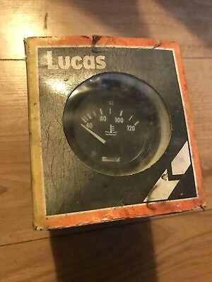 NOS Lucas 52mm Electrical Water Temperature Gauge 12V