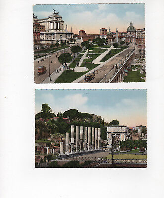 Vintage 1950s Color postcards of Rome (ROMA). Lot of 2 - unused. Arch of Titus
