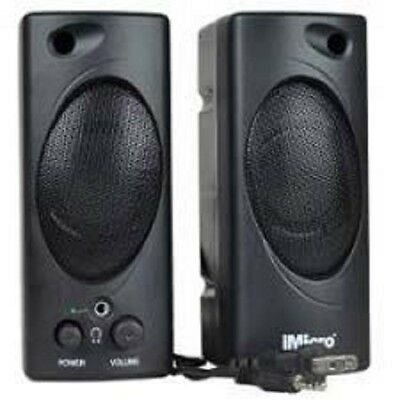 iMicro Black 2-Piece Multimedia Speaker Set With Headphone Jack SP-IMD693