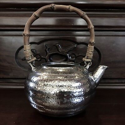 Japanese Antique Pure Silver Hand Made Teapot