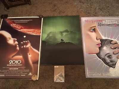 Rare One Sheet Original Rolled Cult Posters Rosemarys Baby 2010 Space Odessy
