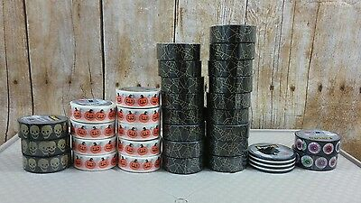 washi tape lot scotch expression halloween spider pumpkin craft scrapbook skull