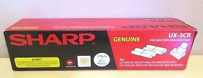 SHARP UX-3CR Genuine Fax Machine Imaging Film NEW IN BOX!  2 rolls in box