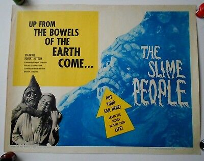 Slime People original 22 x 28 movie poster sci-fi horror monsters