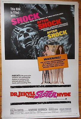 Dr Jekyll and Sister Hyde 40 x 60 Hammer horror poster famous monsters Mr Mister