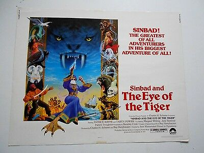 Sinbad and the Eye of the Tiger half-sheet movie poster Ray Harryhausen monsters