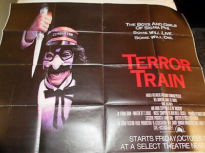 Terror Train rare subway poster Jamie Lee Curtis slasher horror Prom Night