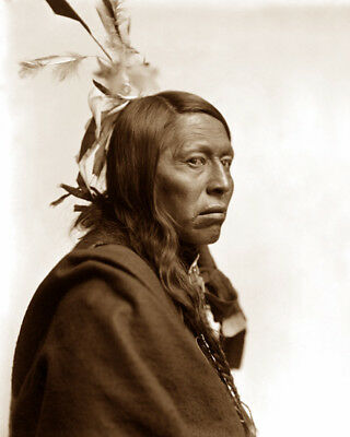 Flying Hawk  (3/4) 1898 Sioux Native American Sepia Photo