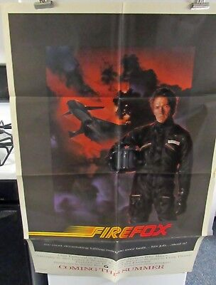 Firefox Clint Eastwood  original folded American one-sheet movie poster teaser
