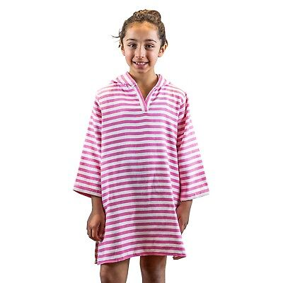 Hot Pink Hooded Cotton Poncho Towel w Hood for Kids Beach towel Turkish Cotton
