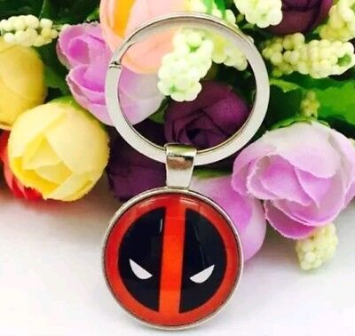 Deadpool Superhero Key Chain Cartoon Key Ring  Gift jewelry keychain keyring