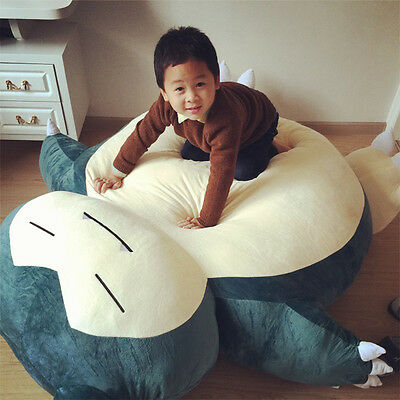 Giant Big Snorlax Plush Kabigon Doll Bed Toys Doll 59'' Just Cover No Cotton New
