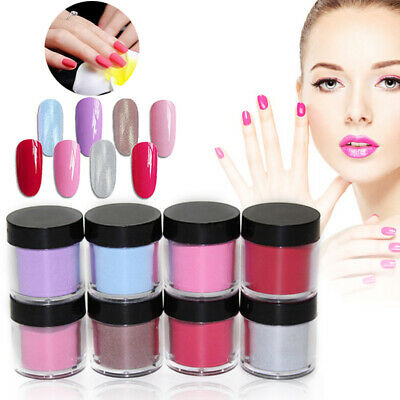10ML Nail Dipping Powder without Lamp Cure Dip UV Gel Polish DIY Quick Dry Dust