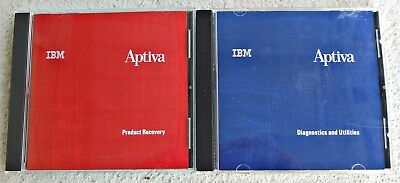 Vintage Ibm Aptiva Computer Softare Product Recovery & Diagnostics And Utilities