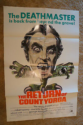 Return Of Count Yorga  Aip Vampire  Robert Quarry  One Sheet 1971