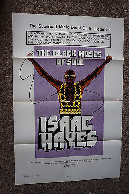 Black Moses Of Soul  Isaac Hayes  Soul Music One Sheet 1973