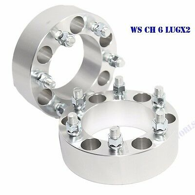 "1 Pair Wheel Spacer 53MM 2"" for 88-00 Chevy C2500 K2500/99-16 Escalade 6LUG ONLY"